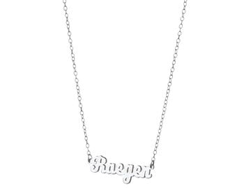 Personalized Mini Script Name Necklace / Sterling Silver / 14k Gold over Silver