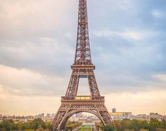 Eiffel Tower Photograph, Color Print, Paris Photograph, Fine Art Photography, Architectural Photograph, Travel Photo