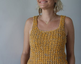 Pullover sleeveless natural made in France