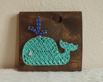 Whale Nursery String Art