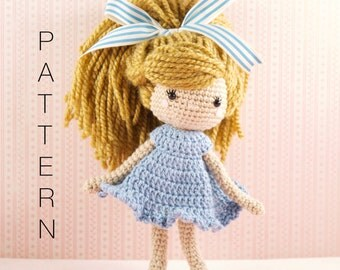 Amigurumi crochet doll - Emmy-Lou crochet doll PATTERN ONLY (English)