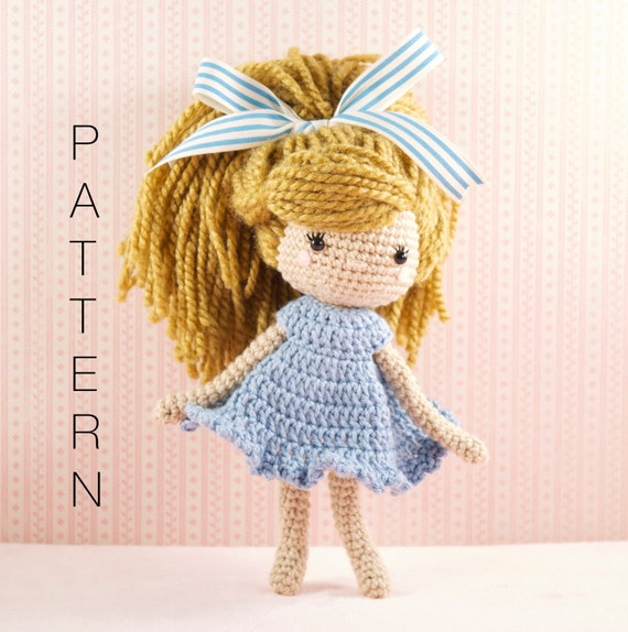Amigurumi Doll Patterns For Beginners : Amigurumi crochet doll Emmy-Lou crochet doll PATTERN ONLY