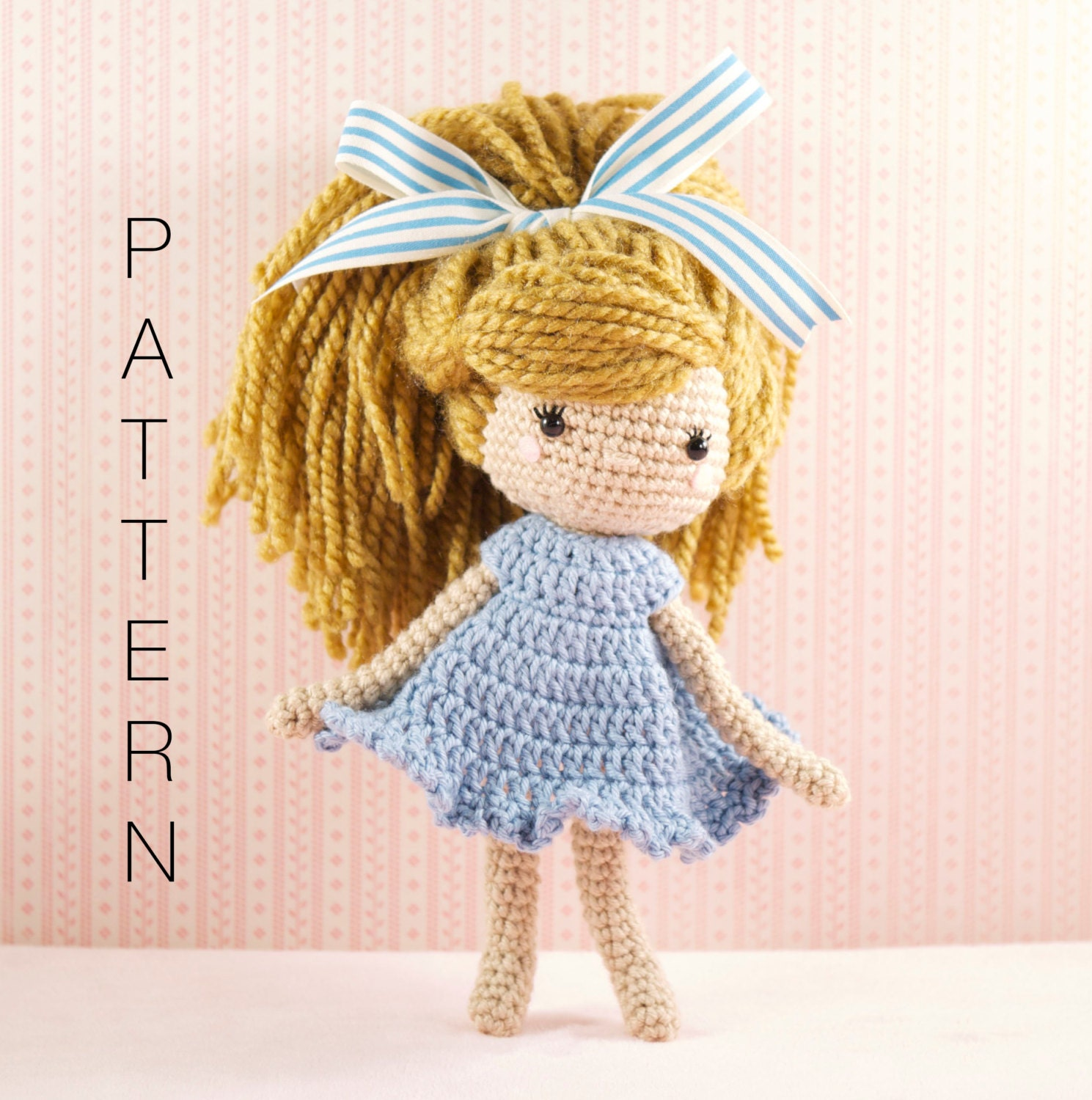 How To Make Amigurumi Dolls For Beginners : Amigurumi crochet doll Emmy-Lou crochet doll PATTERN ONLY