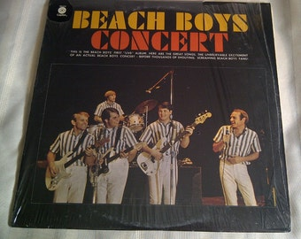 Beach Boys Concert Live 1963. Vinyl Record Album Beach Boys Live.