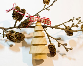 Hand-Turned Wood Christmas Ornament by Ytterberg Studio
