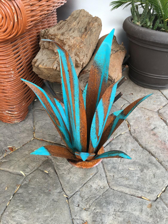 Rustic Blue Fine Agaveagavesculpturegarden Artmetal