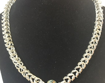 Life is a fantasy- chainmail necklace