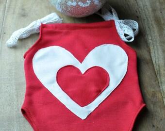 Valentines set for a newborn baby girl.