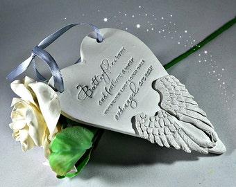 In memory ornament Memorial gift Angel wings remembrance