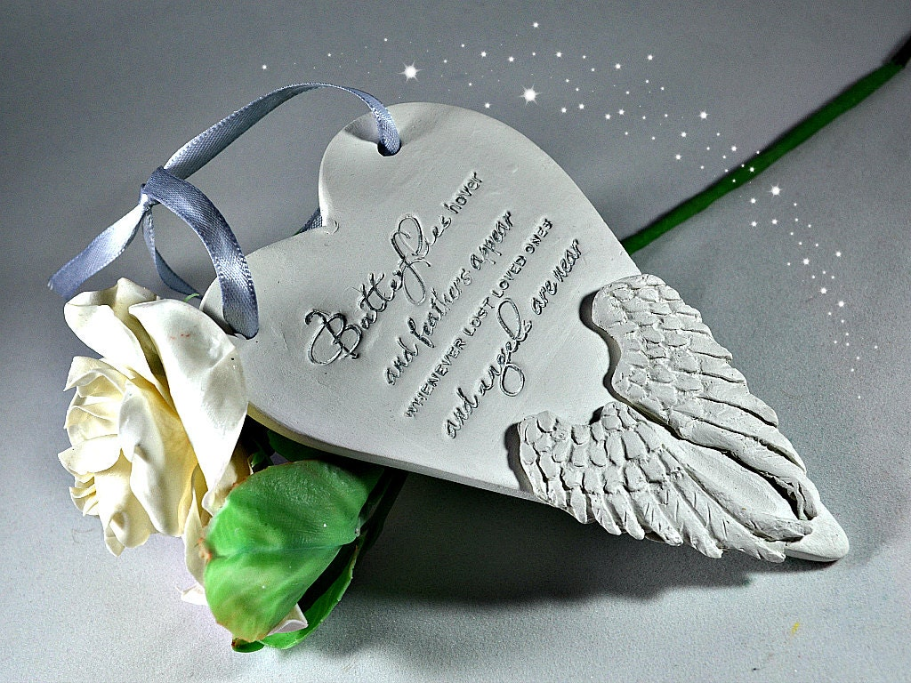 Ornaments for loved ones lost - Memorial Ornaments In Loving Memory Bereavement Gifts Feathers Appear When Angels Are Near