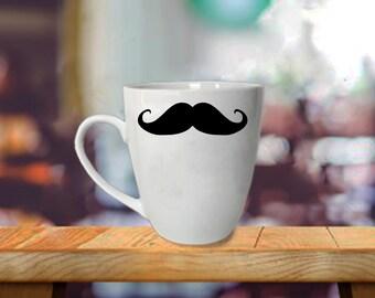 Funny Mustache Mug - Gift for Him - Gift for Her - Mustache Coffee Mug