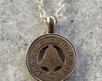 Los Angeles Railway Token Pendant Necklace