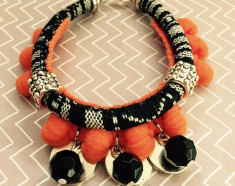 Ethnic bracelet with Strawberry oranges.