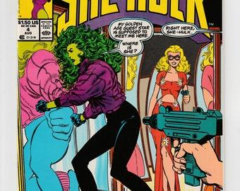 Sensational She-Hulk #4 or #6 or #7 or #9 Marvel Comics Blonde Phantom Reintroduced and TV Shows Satire 1989 Vintage Comic Book Art