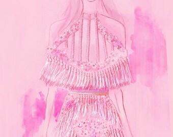 Balmain FW16 01 Fine Art Print