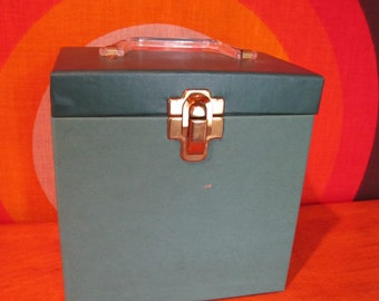 Vintage 45 Record Case, Record Holder, 45 Case, Platter Pak, 45 Record Tote, 1970's Record Holder, 45 Organizer with Index, Amfile