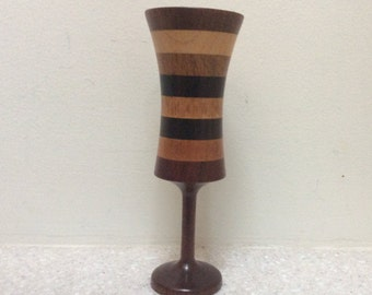 Chalice - Goblet - Sculpture Custom made inlaid wood