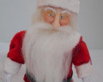 OOAK Hand Sculpted 1:12th scale Santa Christmas Dollhouse Doll
