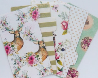 Set of 5 Personal / A5 / Pocket Planner Dividers