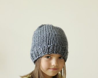 Children's Hat, Hand Knit Hat for Girl, Kids Hat, Winter Accessories for Kids, Cerise, Pink