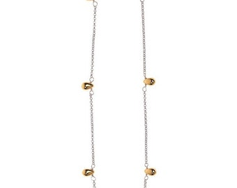 Silver & Gold Drops Necklace