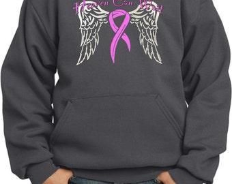 Kid's Breast Cancer Awareness Hoodie Heaven Can Wait Hoody 15805-PC90YH