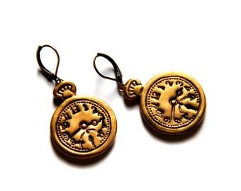 Cute earrings Clock dangle earrings Clock jewelry Girl earring Gift for girl Gift for teens gift Time earring Teenager gift For her Birthday