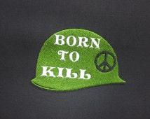 Full metal Jacket Born to Kill Helment Iron on/sew on Patch
