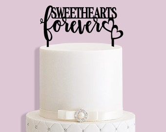 Sweethearts Forever Cake Topper