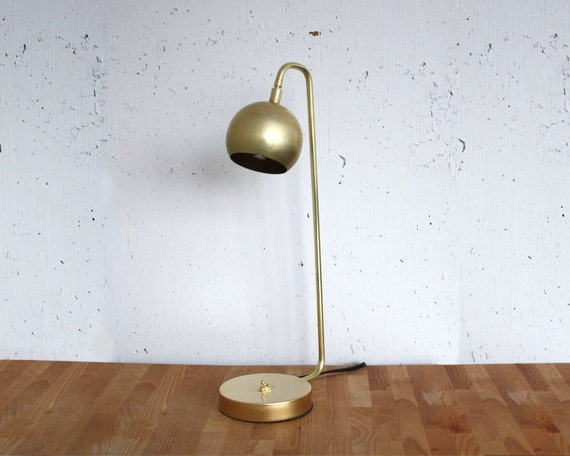 Quiet Sid Brass Desk Lamp from Rough Luck Studio on Etsy