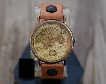Préférence Aventure carte drôle Art cuir montre montre femme montre IQ26