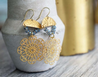 Filigree earrings, brass earrings,lightweight brass earrings,gold brass earrings,brass filigree earrings,lightweight earrings, brass jewelry