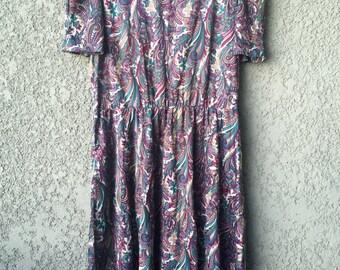 Purple paisley Tabby dress