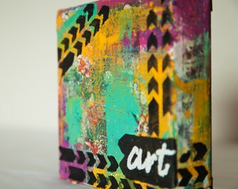 Art Small mixed media canvas