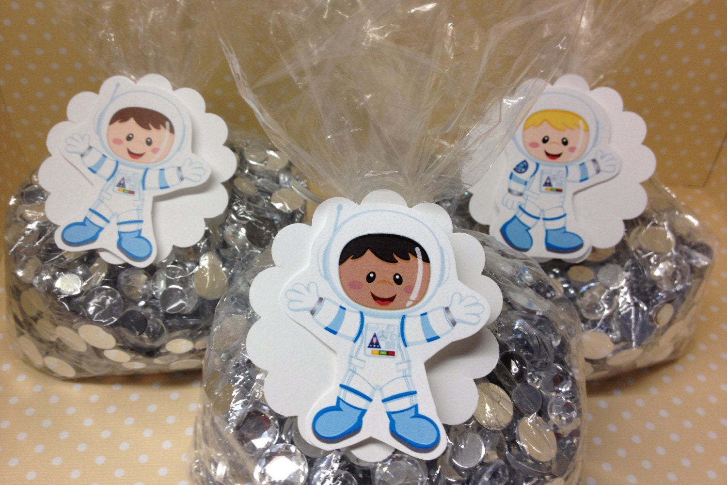 Astronauts Rocket Space Party Candy or Favor Party Bags with