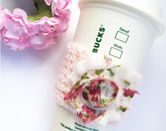 Shabby Floral // Coffee Cozy