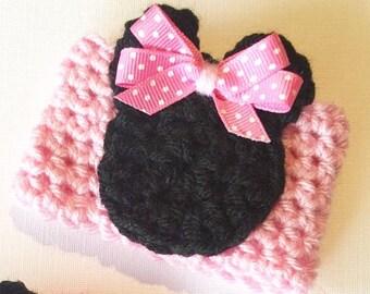 Pink Minnie // Coffee Cozy