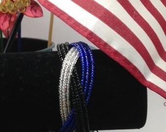Army Braided Cuff Bracelet