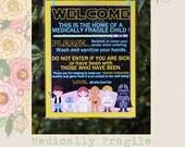 Medically Fragile Baby Child Door Sign Special Needs Star Wars Sign