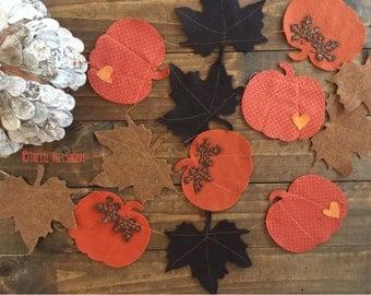 Fall Banner, Pumpkin Banner, Fall Garland, Pumpkin Garland, Thanksgiving Banner, Felt Garland ,Felt Garland, Fabric pumpkin, Fall Decor,Fall
