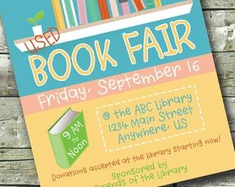 BOOK FAIR ~ Library Flyer ~ Community Event Poster ~ 5x7 Invite ~ 8.5x11 Flyer ~ 11x14 Poster ~ 300 dpi Digital Invitation