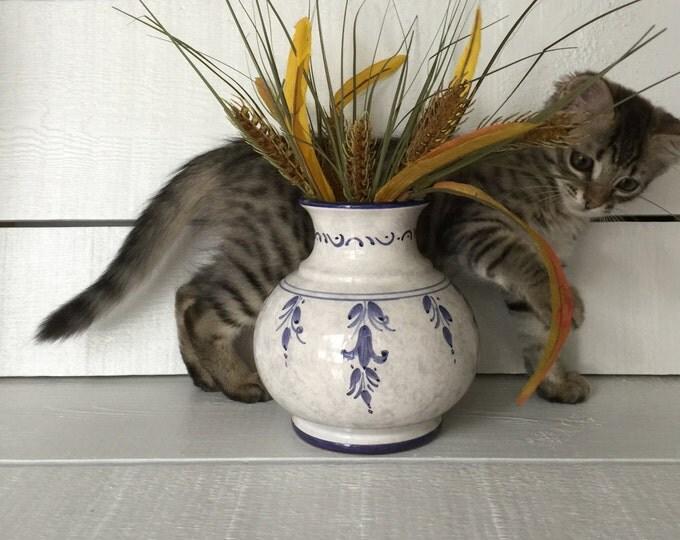 Majolica Vase by Sberna Ceramics of Deruta Italy Numbered Majolica Vase