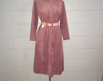 Shirt Dress {Henry-Lee} Dusty Rose Faux Suede, Size 8