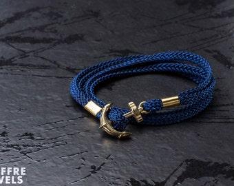 Nautical blue anchor bracelet