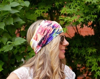 BUY 2 get 1 FREE! Sunburst, Yoga Headbands, Fitness Headband, Workout Headband, Wide Headband, Jersey Headband, Turban