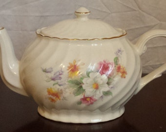 ARTHUR WOOD and SON Teapot, Staffordshire, England #6312