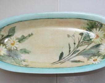 Sweet Daisy KPM Vintage Small Oval Dish