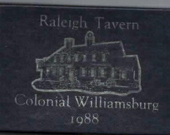 Like New 1988 Colonial Williamsburg Ornament of Raleigh Tavern