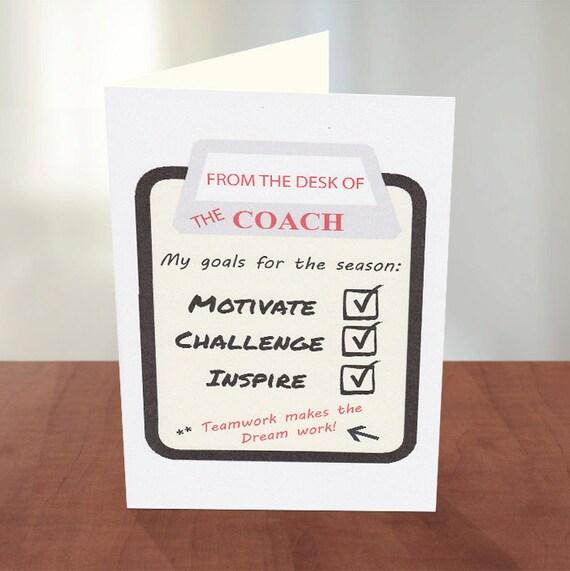 Coach Card Thank You Coach Football Coach Coach Gifts