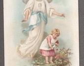 The Archangel Antique French Holy Card Catholic image Religious ephemera Catholic Gift angel